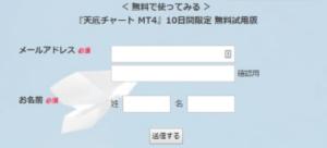 天底チャートMT4の10日間無料登録