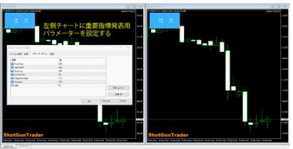 ショットガントレーダーの設定画面