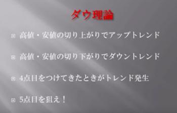 ぷーさん式トレードマニュアル輝のダウ理論